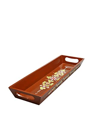 Mela Artisans Utsav Serving Tray, Brown