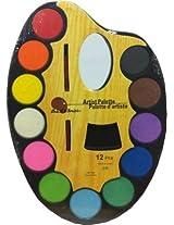 Shopperz Water color Palette (Set of 1, Multicolor)
