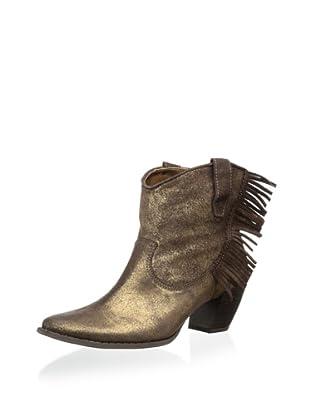 Klub Nico Women's Zousa Fringe Western Bootie (Gold)
