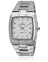 Ad 2060-Wt01 Silver/White Analog Watch