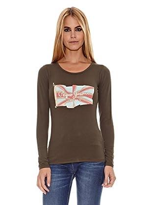 Pepe Jeans London Camiseta Wilde L.S (Caqui)