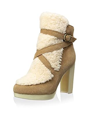 Australia Luxe Collective Women's Mercy High Heel Shearling Shaft Ankle Boot with Buckle