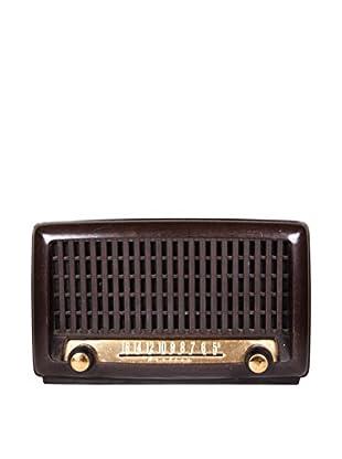 1930s Vintage Wards Airline Radio, Brown/Gold