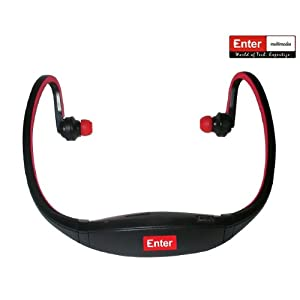 Enter Neckband MP3 Player (E-NB3R) - Red