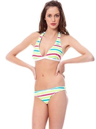 Rip Curl Bikini Miramar Rayas (Blanco)