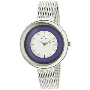 Titan youth analogue white dial women's watch
