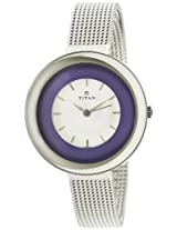 Titan youth analogue white dial women's watch