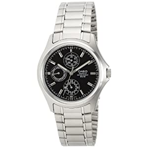 Casio Analog Black Dial Men's Watch - MTP-1246D-1AVDF
