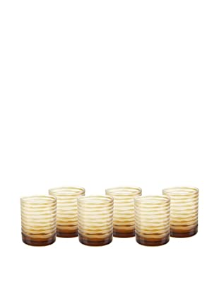 Impulse! Set of 6 Vienna Rocks Glasses (Amber)