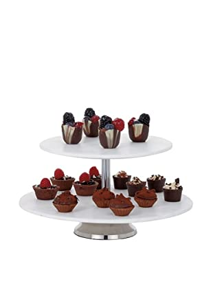 Torre & Tagus Marble 2-Tier Cake Stand