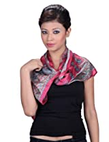 Cardinal red printed readymade stole