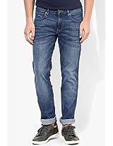 Blue Washed Regular Fit Jeans Wrangler
