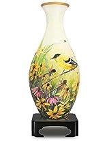3D Puzzle Vase - Goldfinches