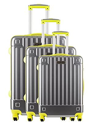 Creation Olivier Lapidus Pour Platinium Set 3 Trolley 4 Ruedas Neon (Amarillo)