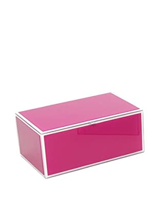 Mia Collection Glass Jewelry Box (Pink)