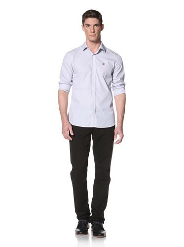 LOVE Moschino Men's Stripe Shirt (Blue/White Stripe)