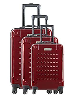 Creation Olivier Lapidus Pour Platinium Set 3 Trolley 4 Ruedas Golf (Rojo)