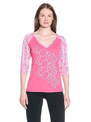 Zumba Camiseta Manga Corta Love X3 V-Neck