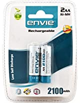 Envie Ni-MH 2100 2x AA mAh Rechargeable Batteries