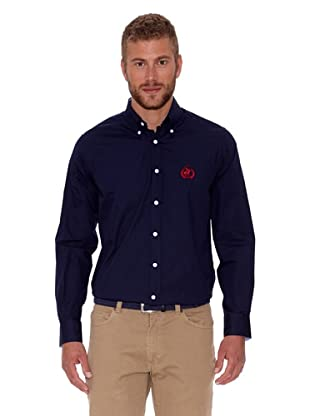 Polo Club Camisa Fitted Logo (Azul Marino)
