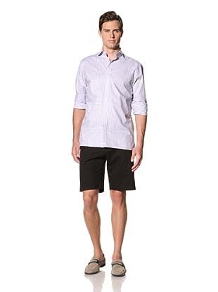 Bobby Jones Men's Twill Micro Check Spread Collar Shirt (Orchid)