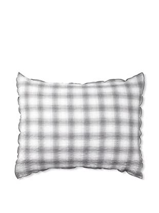 Vera Wang Crinkle Plaid Pillow Sham