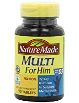 Nature Made Multi For Him Vitamin and Mineral, 90 Tablets