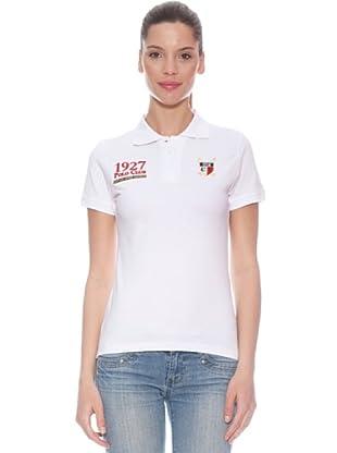 Polo Club Polo manga corta Custom Fit Escudo (Blanco / Rojo)