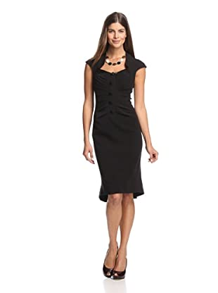 Byron Lars Women's Double Matte Button Dress (mascara)