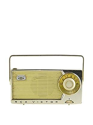 1950s Vintage RCA Victor Two-Toned Portable Radio, Cream/Mint