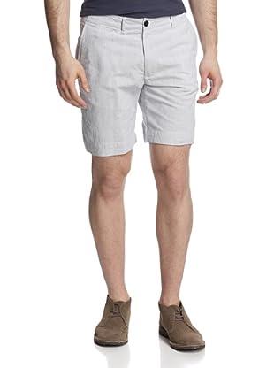 Billy Reid Men's Wilson Seersucker Short (White/Blue)