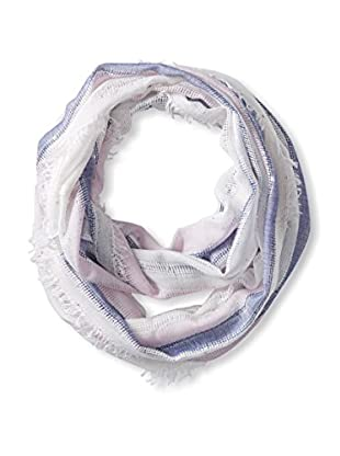 Saachi Women's Striped Infinity Scarf With Sequins, Pink