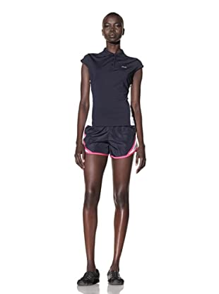 Fila Women's Running Shorts with Mesh Panels (Navy/White/Fuchsia)