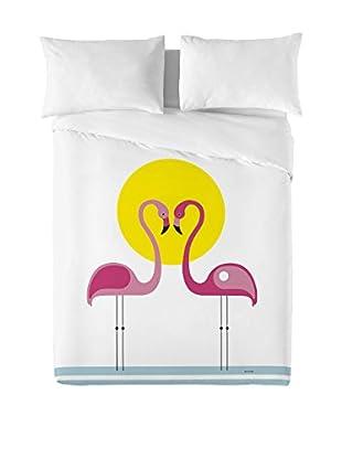 DAVID DELFIN Juego De Funda Nórdica Pink Flamingos