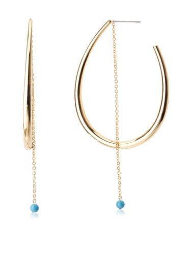 Jules Smith Edie Gold Hoop & Chain Earrings