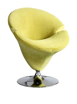International Design USA Tulip Microfiber Leisure Chair, Green