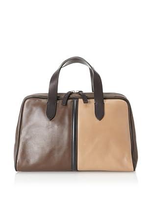 MARNI Women's Color Block Handbag, Black/Beige/Brown