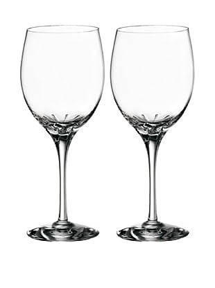 Orrefors Pair of Astra Wine Glasses