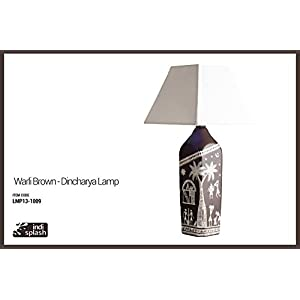Indispash Handpainted Warli Brown Lamp