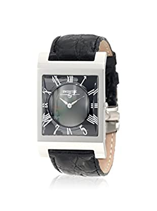 Swisstek SK57745L Limited Edition Swiss Watch With Mother-Of-Pearl Dial, Black