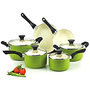Cook N Home NC-00358 cookware set, green