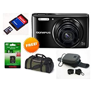Olympus VG-165 Basic Point and Shoot Camera - 14MP (Combo Offer)