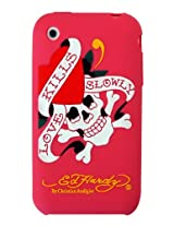 Ed Hardy Silicone Love Kills Slowly Skin for iPhone 3G - Pink