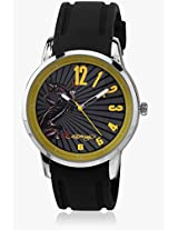 Eh 1120 Yw Black/Yellow Analog Watch Ed Hardy