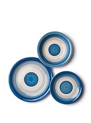Servizio Tavola 18 Pezzi Circle blu