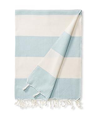 Espalma Turkish Towel Adana, Ivory/Seafoam