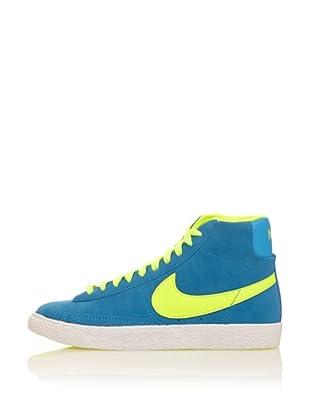 Nike Zapatillas Blazer Mid Vintage (Gs) (Azul / Amarillo)