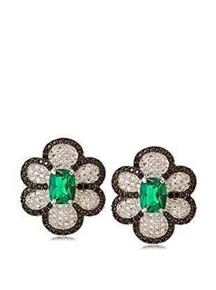 CZ by Kenneth Jay Lane Pavé CZ Floral Earrings
