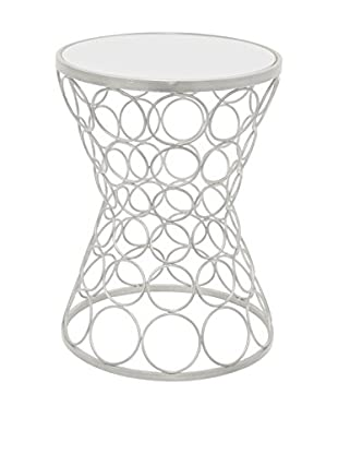 Three Hands Contemporary Circles Mirror Top Accent Table