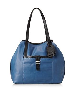 Charlotte Ronson Women's Classic De-Constructed Tote Bag (Denim)